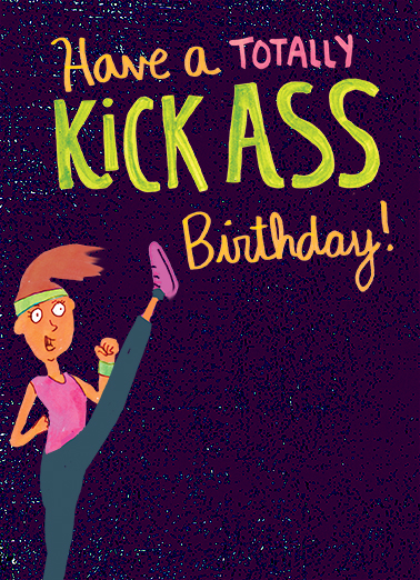 Kick Ass Birthday Birthday Ecard Cover