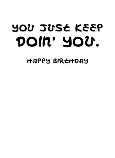 Kickin Ass Birthday Card Inside