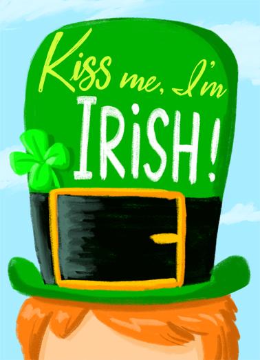 Kiss Me I'm Irish St. Patrick's Day Ecard Cover