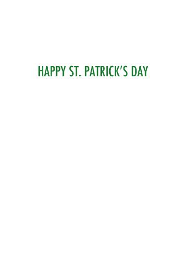 Kiss Me VAC St. Patrick's Day Card Inside