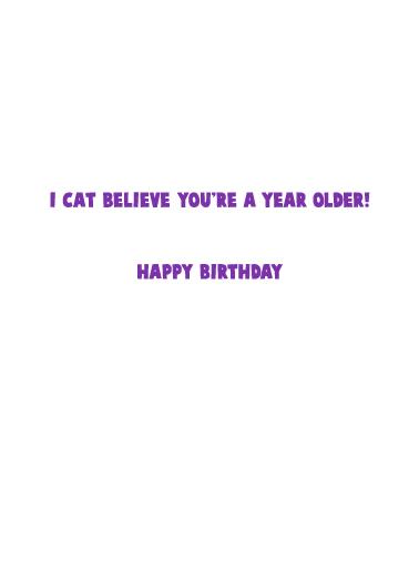 Kitten Meow Birthday Card Inside