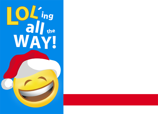 LOL Emoji Christmas Card Cover