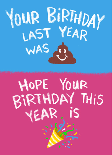 Last Year This Year Birthday Card Cover