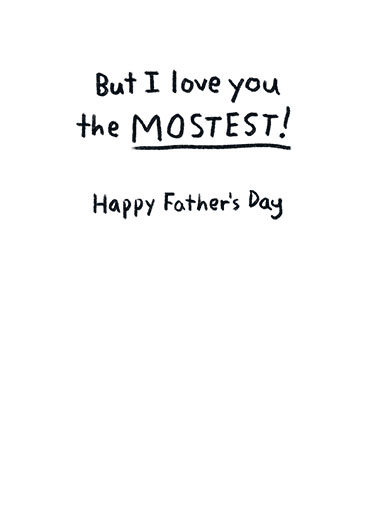 Latest Greatest Father's Day Card Inside
