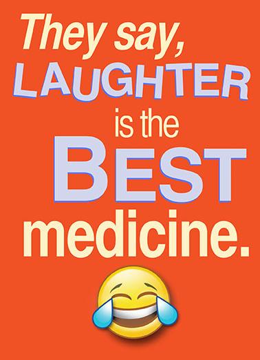 Laughter Best Medicine Wine Ecard Cover
