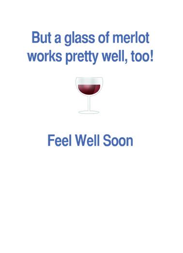 Laughter Best Medicine Get Well Card Inside
