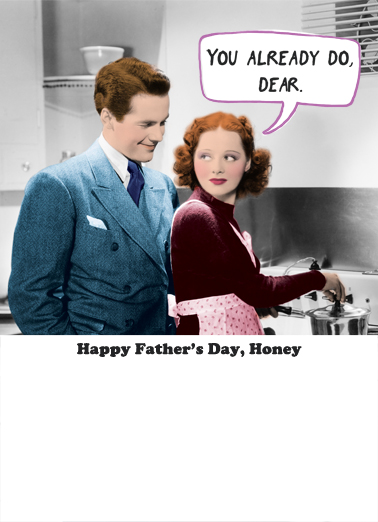 Leave Everything FD Father's Day Card Inside