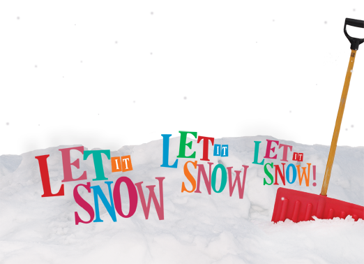 Let it Snow Christmas Card Cover