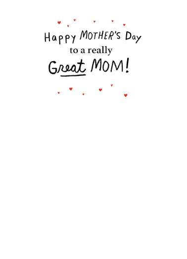 Lick the Mixers Mother's Day Card Inside