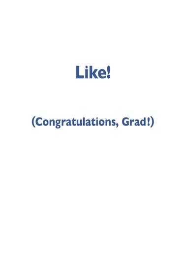 Like Grad Graduation Ecard Inside