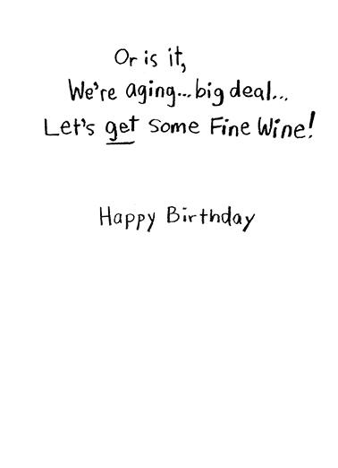 Like a Fine Wine Birthday Card Inside
