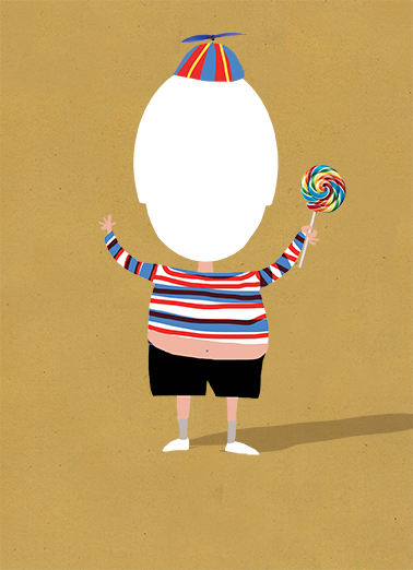 Lollipop Kid Birthday Card Cover