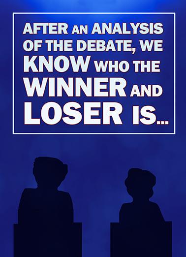 Loser of the Debate Hillary Clinton Ecard Cover