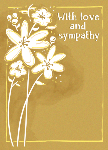 Love And Sympathy Sympathy Card Cover