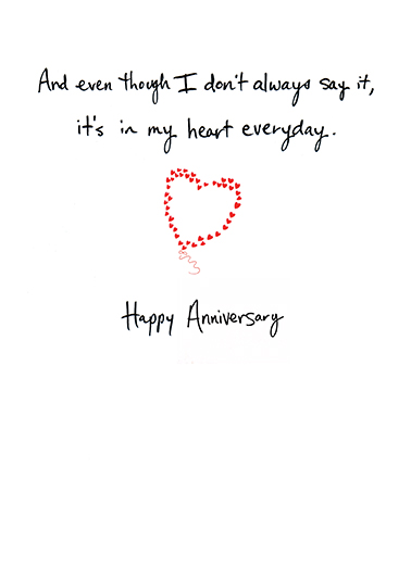 Love You So Much Anniversary Card Inside