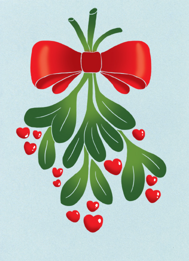 Love and Kisses Christmas Card Cover