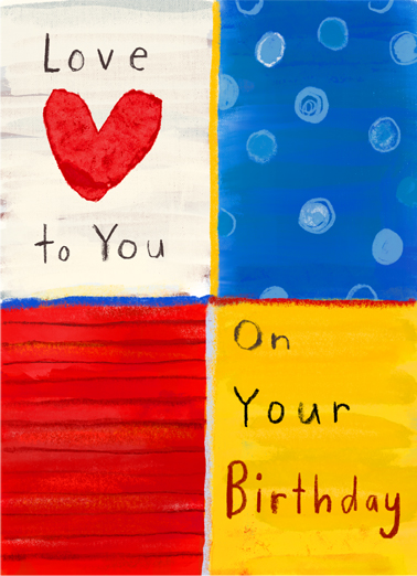 Love to You Birthday One from the Heart Card Cover