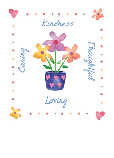 Loving Flower Pot One from the Heart Card Cover