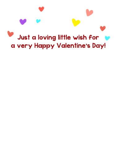 Loving Little Wish Valentine's Day Card Inside