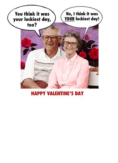 Luckiest Valentine Valentine's Day Ecard Inside