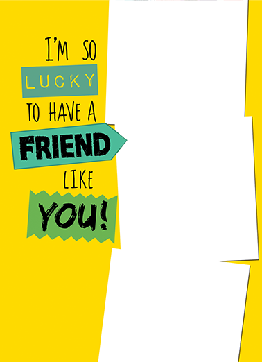 Lucky Friends Friendship Ecard Cover
