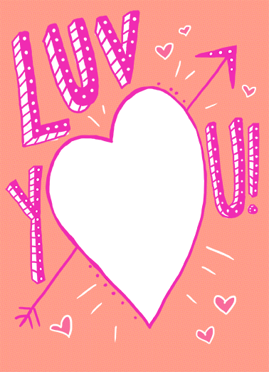 Luv You Anniversary Anniversary Card Cover