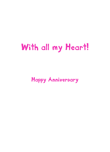 Luv You Anniversary Anniversary Card Inside