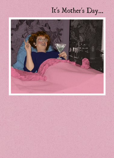 MD Martini in Bed CF Drinking Ecard Cover