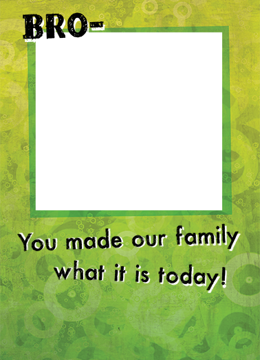 Made Our Family Add Your Photo Ecard Cover