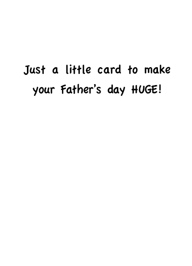 Make Father's Day Great Father's Day Card Inside