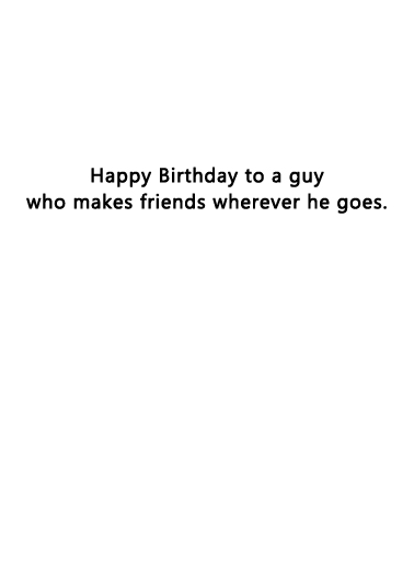 Makes Friends BD Birthday Ecard Inside