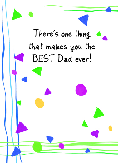Makes You Best Father's Day Card Cover
