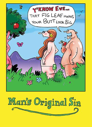 Man's Original Sin Cartoons Card Cover