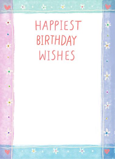 Many Happy Moments Birthday Card Inside