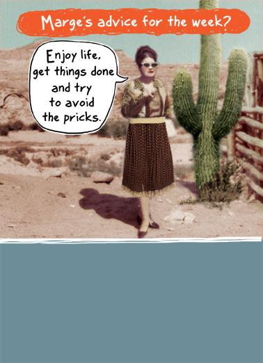Marge Week Vintage Ecard Cover