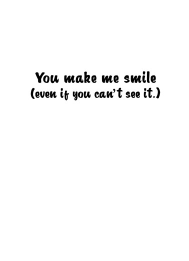 Mask Smile Critter Miss You Ecard Inside