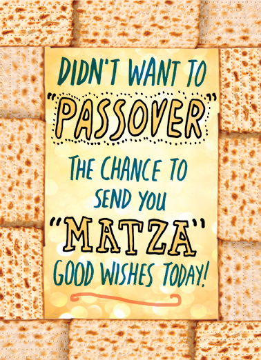 Matza Good Wishes Passover Ecard Cover