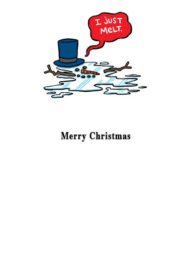 Melt Christmas Card Inside