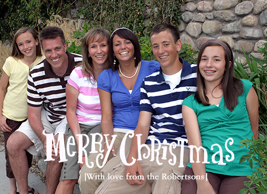 Merry Christmas Full Christmas Card Cover