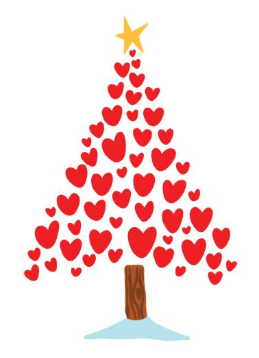 Merry Christmas Heart Christmas Ecard Cover