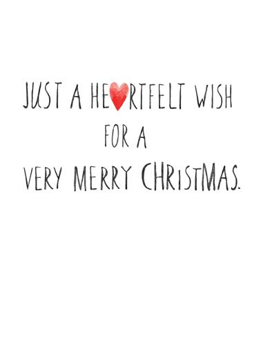 Merry Christmas Hearts Christmas Ecard Inside