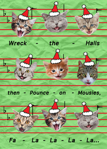 Mewsic Christmas Card Cover