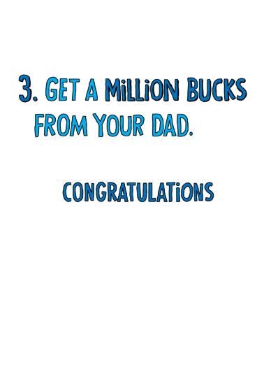 Million Bucks Graduation Ecard Inside