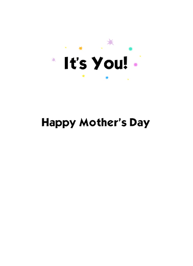 Mirror Mirror Mother's Day Ecard Inside