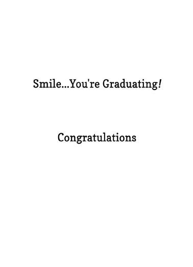 Mona Lisa Mask Grad Graduation Card Inside