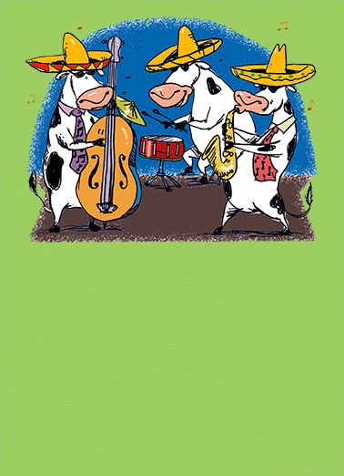 Moo Jazz Gracias Thank You Card Cover