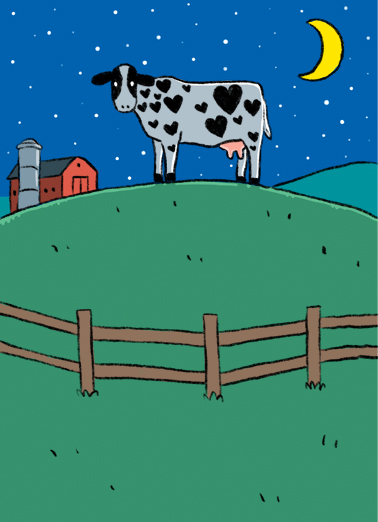 Moo and Back BDAY Funny Animals Ecard Cover