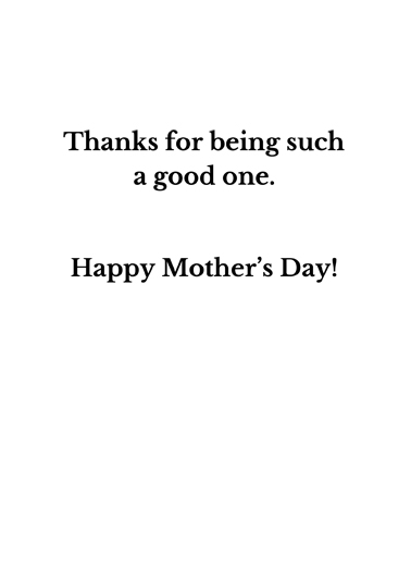 Mother Guide Mother's Day Ecard Inside