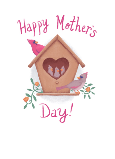 Mother's Day Birds Mother's Day Ecard Cover