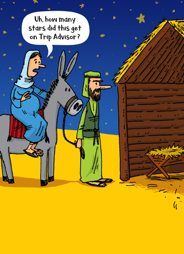 Nativity Trip Advisor Christmas Ecard Cover